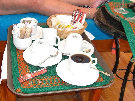 Island View Resort:                                     Tea & Coffee