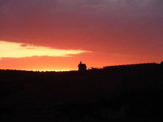 Wincheringen, Deutschland: View at sunset