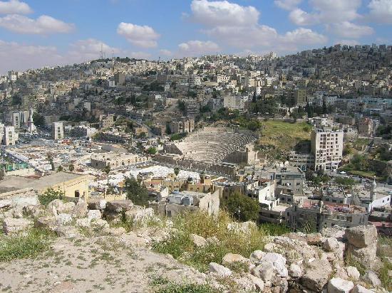 Amã, Jordânia: vista dalla cittadella