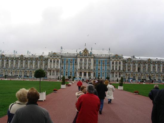 Rússia: Entrada al palacio de verano de Catalina la Grande, Phuskin, Rusia..