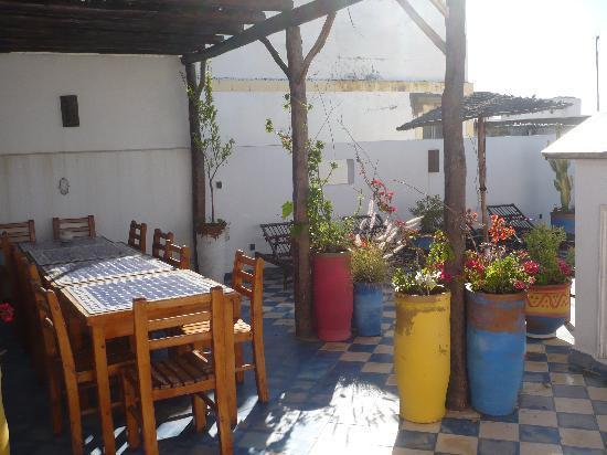 Riad Zelaka: il terrazzo...