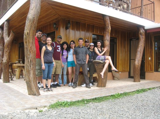 Odyssey Tours Jaco: the gang at rustic lodge!