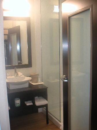 Red Roof Inn & Suites Beaumont: Fancy bathroom at Red Roof Inn