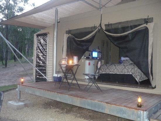 Ketchup's Bank Glamping: tent/cabin