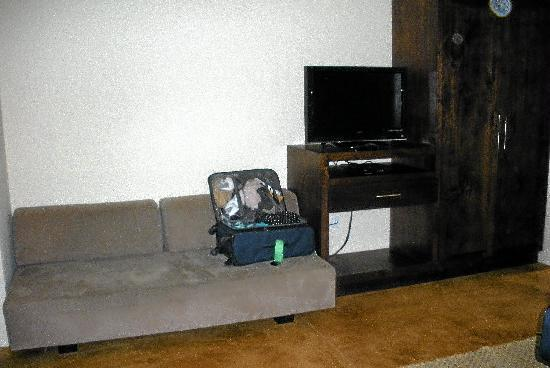San Angel Suites: One of 2 sitting areas with flat screen TV
