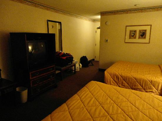 Comfort Inn and Suites Newark : la chambre un peu triste