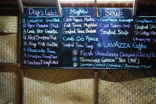 Dunhill Beach Resort : Our Seafood Speciality Menu