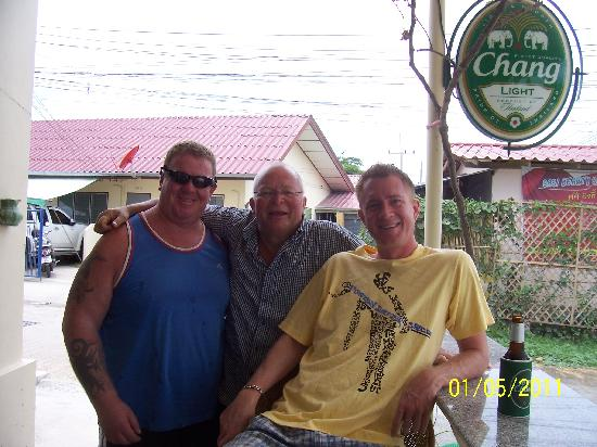 The Donkey's Rest: Andy the owner, me and our son James