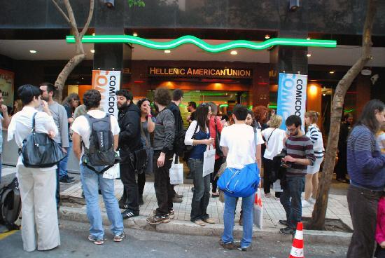 Hellenic American Union - Main Entrance - Comicdom