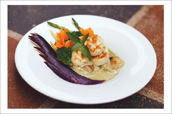Deejai Thai Restaurant: Green Curry Scallop With Roasted Eggplant