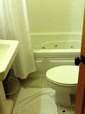 Hotel Mountain Brook: tiny bathroom