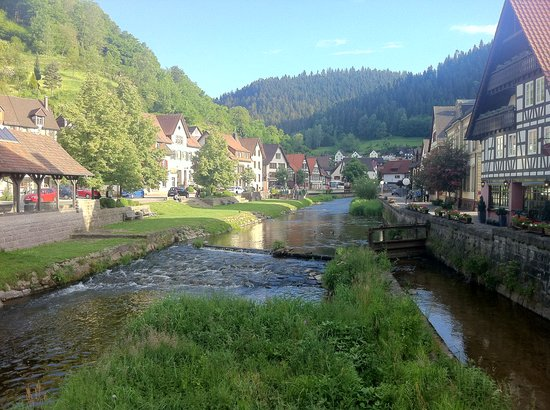 Zur Alten Brucke: The river through the town, the Inn is midway down on the left.