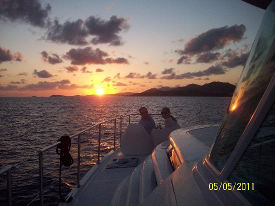 Luxury Catamaran Adventures: Island Sunset