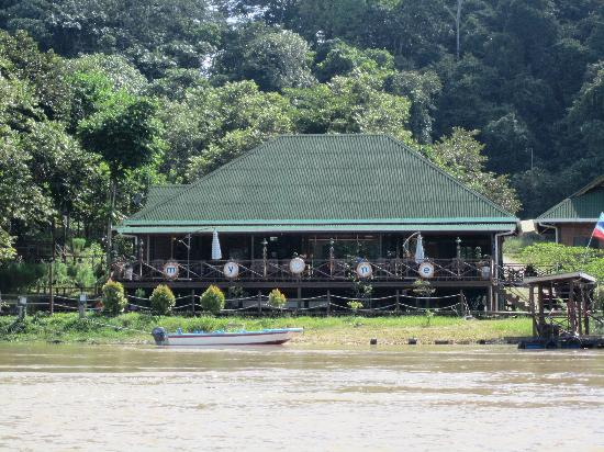 Myne Resort: The resort as seen from the river