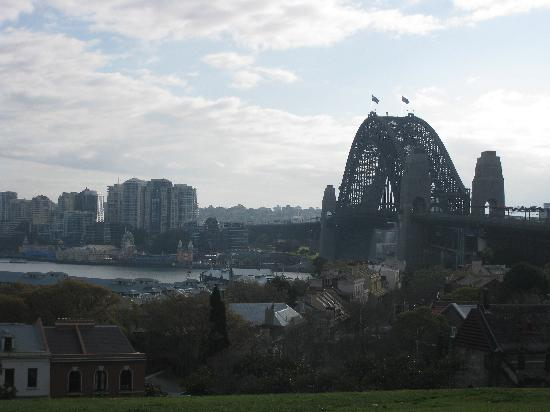 View of Sydney Harbor Bridge from Observatory Hill