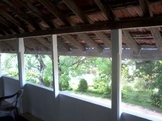 Sarras Guest House: Open verandah overlooking the garden