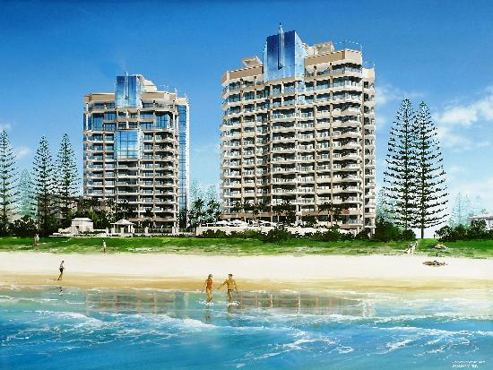 Beachfront view of Oceana on Broadbeach