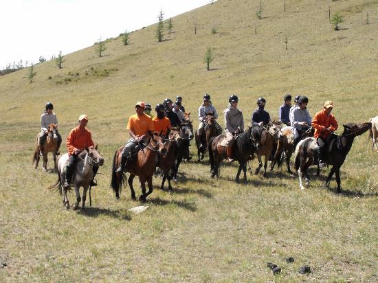 Ulan Bator, Mongolei: khishig horse riding