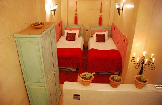 Riad el Dar: La Twins, 2 single bed