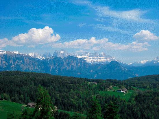 Renon, Italia: Blick vom Plörr-Balkon