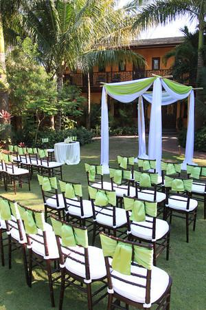 Marley Resort & Spa: Wedding ceremony at the Marley's garden
