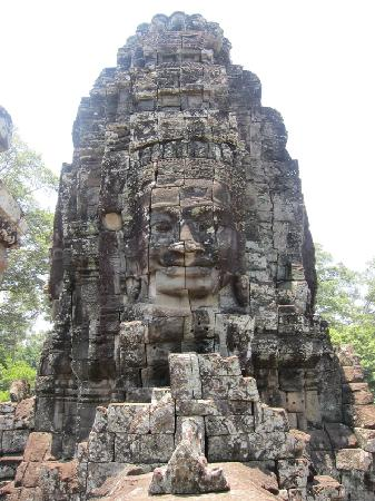 Siem Reap, Camboya: A face in Bayon