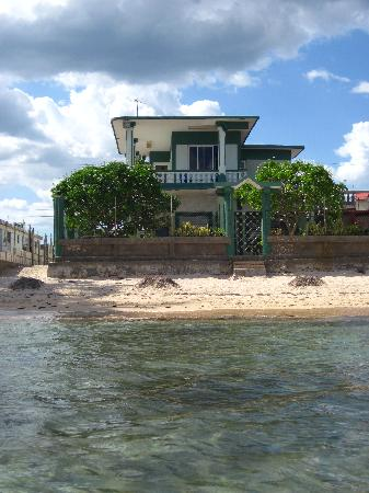 Playa Larga, Cuba: view of Kiki's house from the beach out front