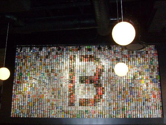B Spot Burgers: Mural inside of b spot