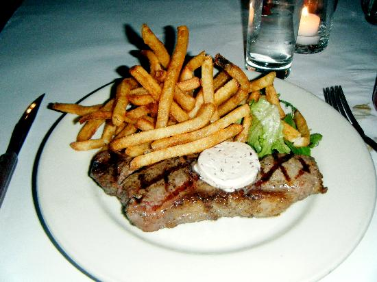 Les Halles: New York Sirloin with Fries