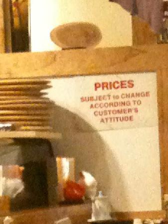 Chaya Japanese Cuisine: Prices subject to change