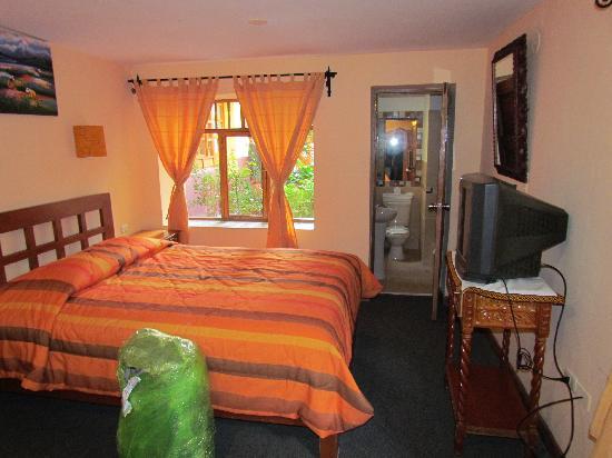 La Hostería de Anita: The room ( another bed is behind me )