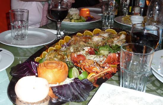 Shark Restaurant : Sea food platter for two!