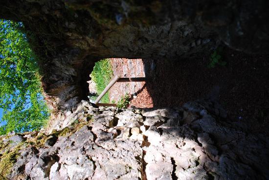 Burgruine Leienfels - Torbogen in der Burg
