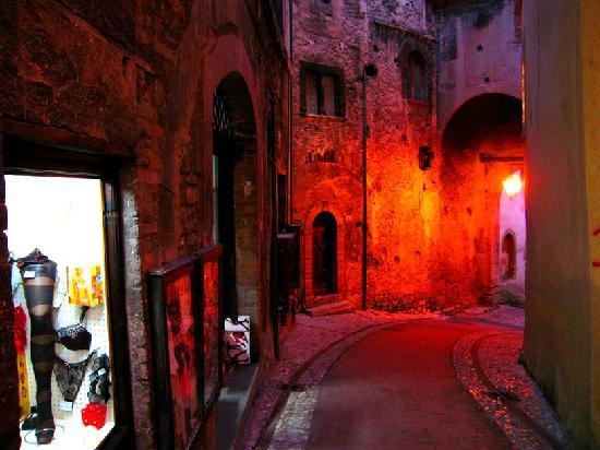 Porta Fuga, pedestrian centre of Spoleto