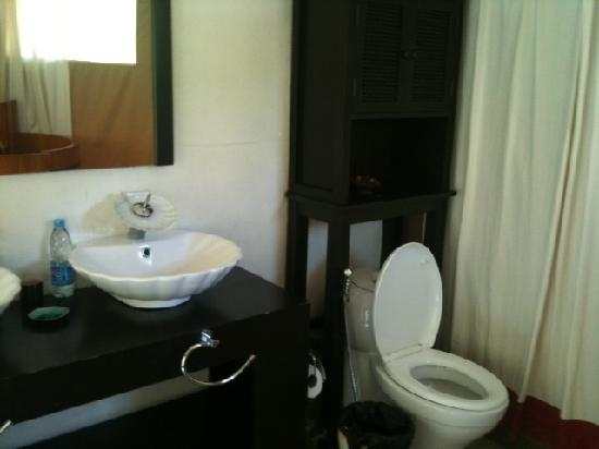 4 Rivers Floating Lodge: Toilet / Sink