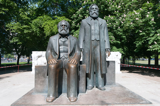 Photo of Outdoor Sculpture Marx-Engels-Denkmal at Karl-liebknecht-str., Berlin 10178, Germany