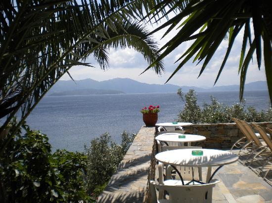 Pounda Paou: view from pool area