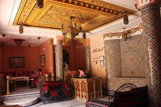 Hotel Jnane Sbile: Recepcion