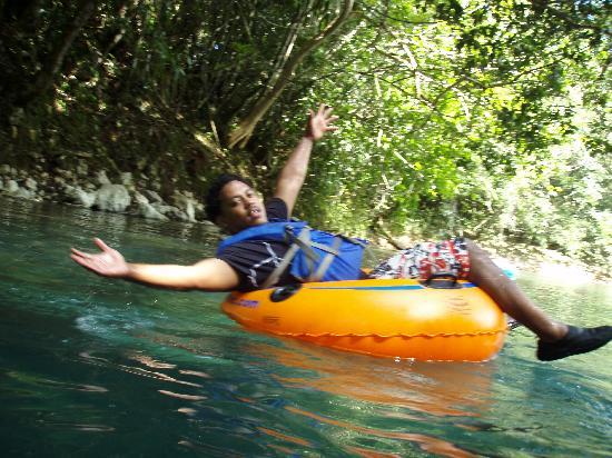 Belize Jungle Trek: Floating on the river