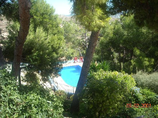 Alhama de Murcia, İspanya: View overlooking the pool