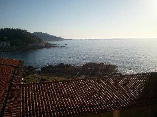 Baiona, Hiszpania: vista desde la habitación.