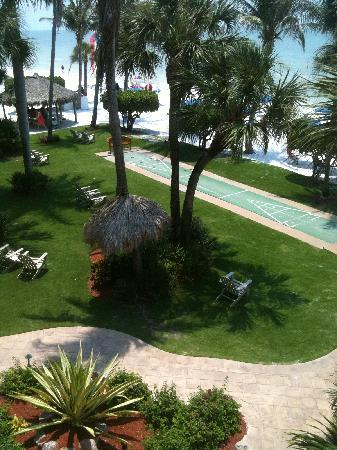 BEST WESTERN PLUS Beach Resort : Lawn area just off the beach