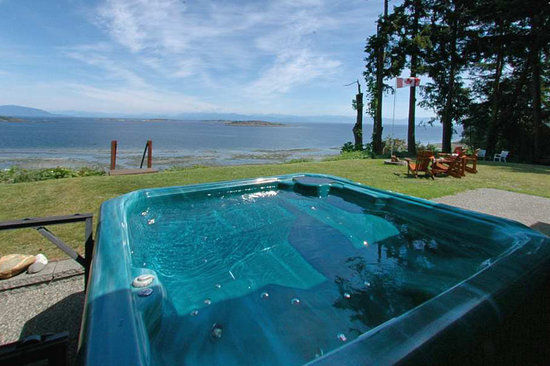 Graycliff Cottage Oceanfront B&B: views from the hot tub