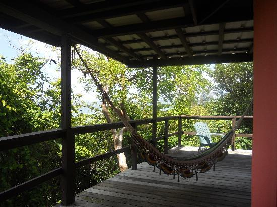 Pools Beach : Veranda with hammocks.. overlooking ocean