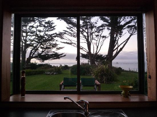 Steeples Cottage, Studio and B & B: View from kitchen window