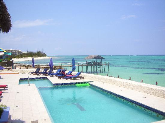 Compass Point Beach Resort: Pool, Love Beach in the background