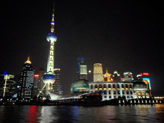 Şanghay, Çin: a view from the night cruise............magnificient Shanghai !