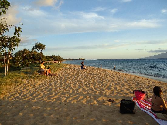 Honua Kai Resort & Spa: Beach in front of hotel in the evening