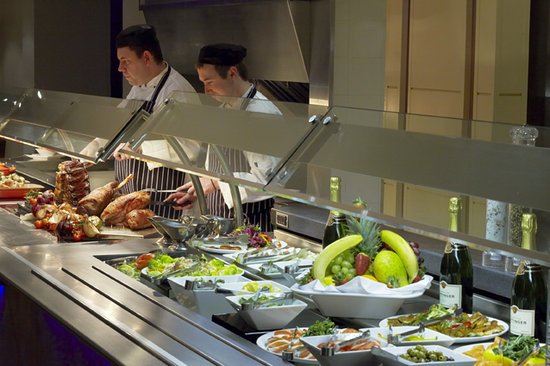 Carvery and Grill: A selection of hot and cold buffet