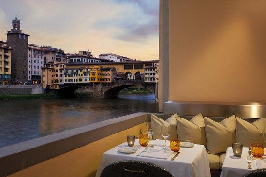 Hotel Lungarno : Arno view from Terrace Borgo San Jacopo Ristorante